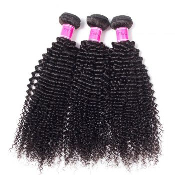 Brazilian Kinky Curly Wave Virgin Human Hair 3 Bundles