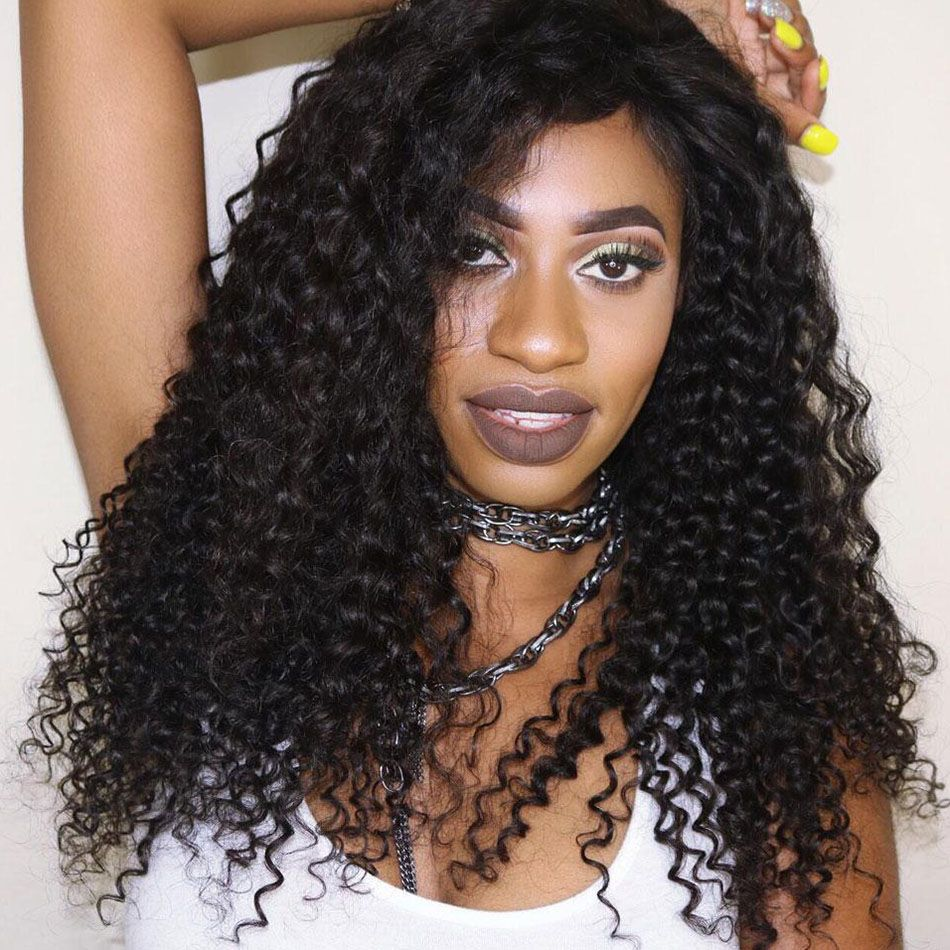 Brazilian Remy Curly Wave 4 Bundles With Lace Frontal