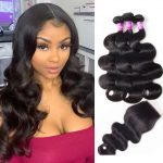 Indian 3 bundles with closure