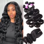 Indian 4 bundles with closure