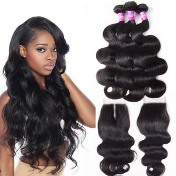 body wave hair bundles with lace closure