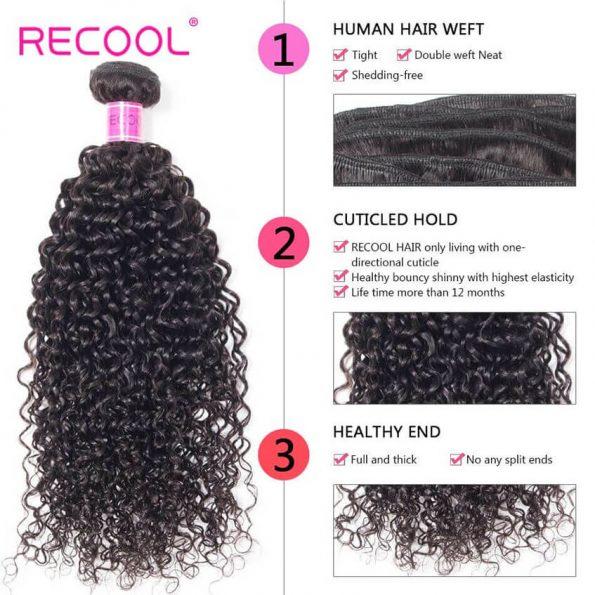 recool human hair curly wave bundles details (5)
