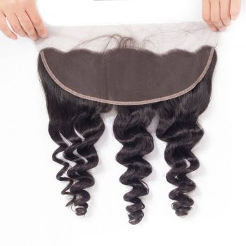10A Brazilian Loose Wave Frontal Closure Human Hair
