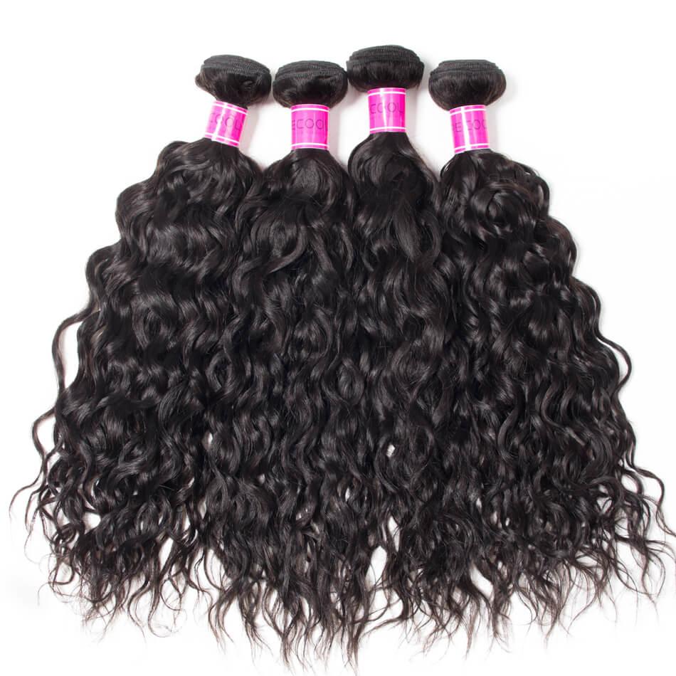 10A Indian Human Hair 4 Bundles Water Wave