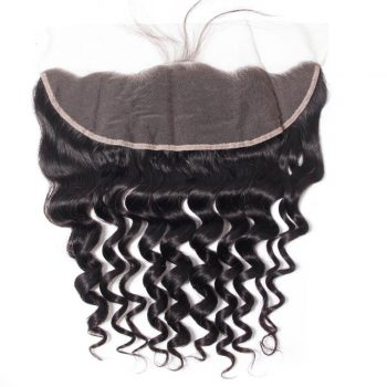 10A Loose Deep Human Hair Extensions 13x4 Frontal