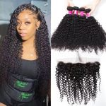Brazilian Curly 4 bundles with frontal