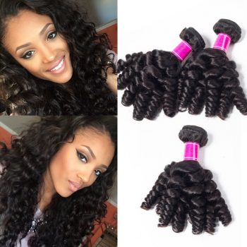 Indian Funmi Hair Bouncy Curls 3 Bundles Sale