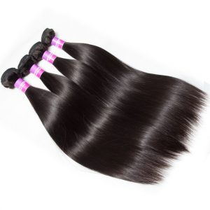 Indian Straight Virgin Human Hair 4 Bundles For Sale