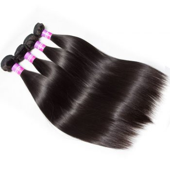 Indian Straight Virgin Human Hair 4 Bundles For Sale