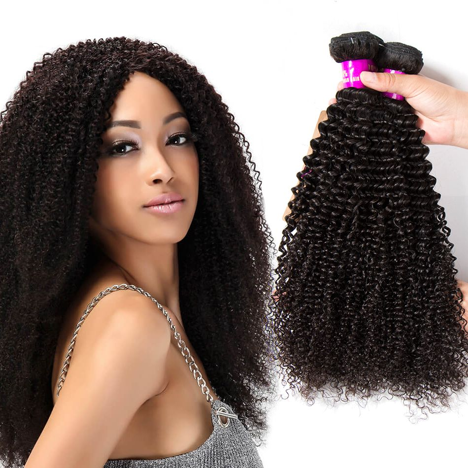 Indian Virgin Human Bundles Kinky Curly Hair