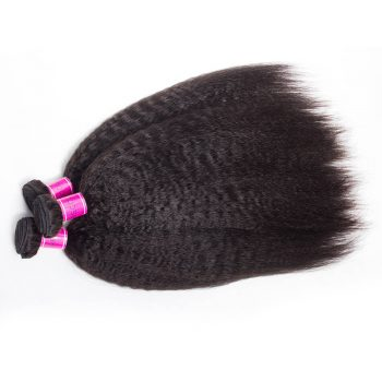 Indian Virgin Human Hair Kinky Straight Wave 4 Bundles