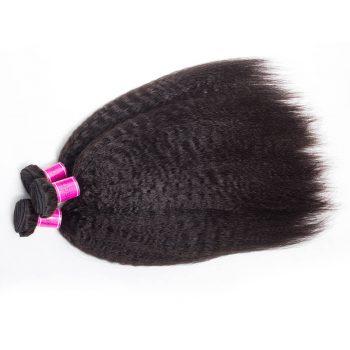 Indian Virgin Human Hair Kinky Straight Wave 4 Bundles