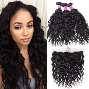 Indian Wet and Wavy 3 Bundles With Frontal Sale