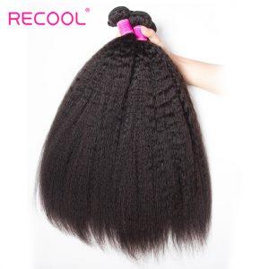 Recool Kinky Straight Brazilian Virgin Hair 1 Bundle