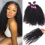 Malaysian Curly 4 bundles with closure
