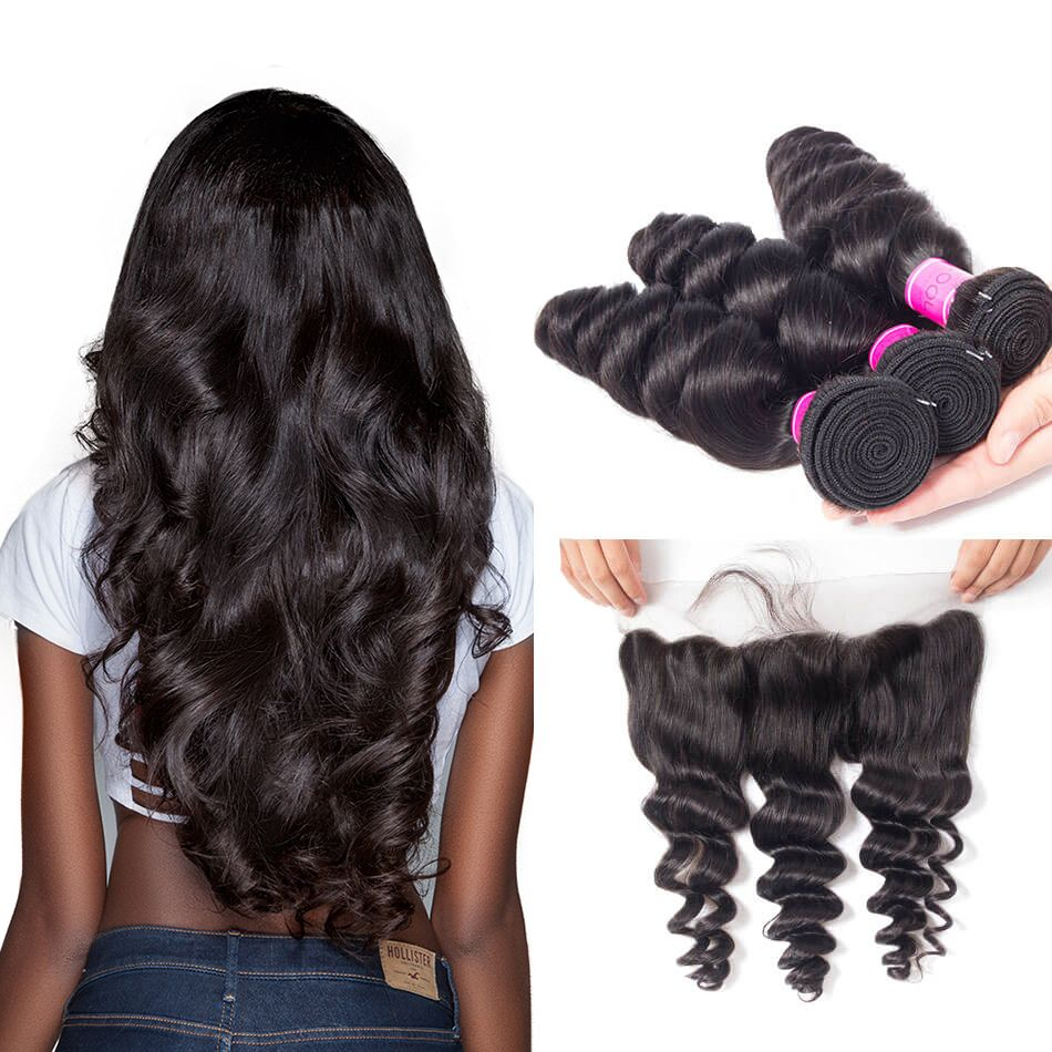 Malaysian Spring Loose Wave 3 Bundles With Frontal