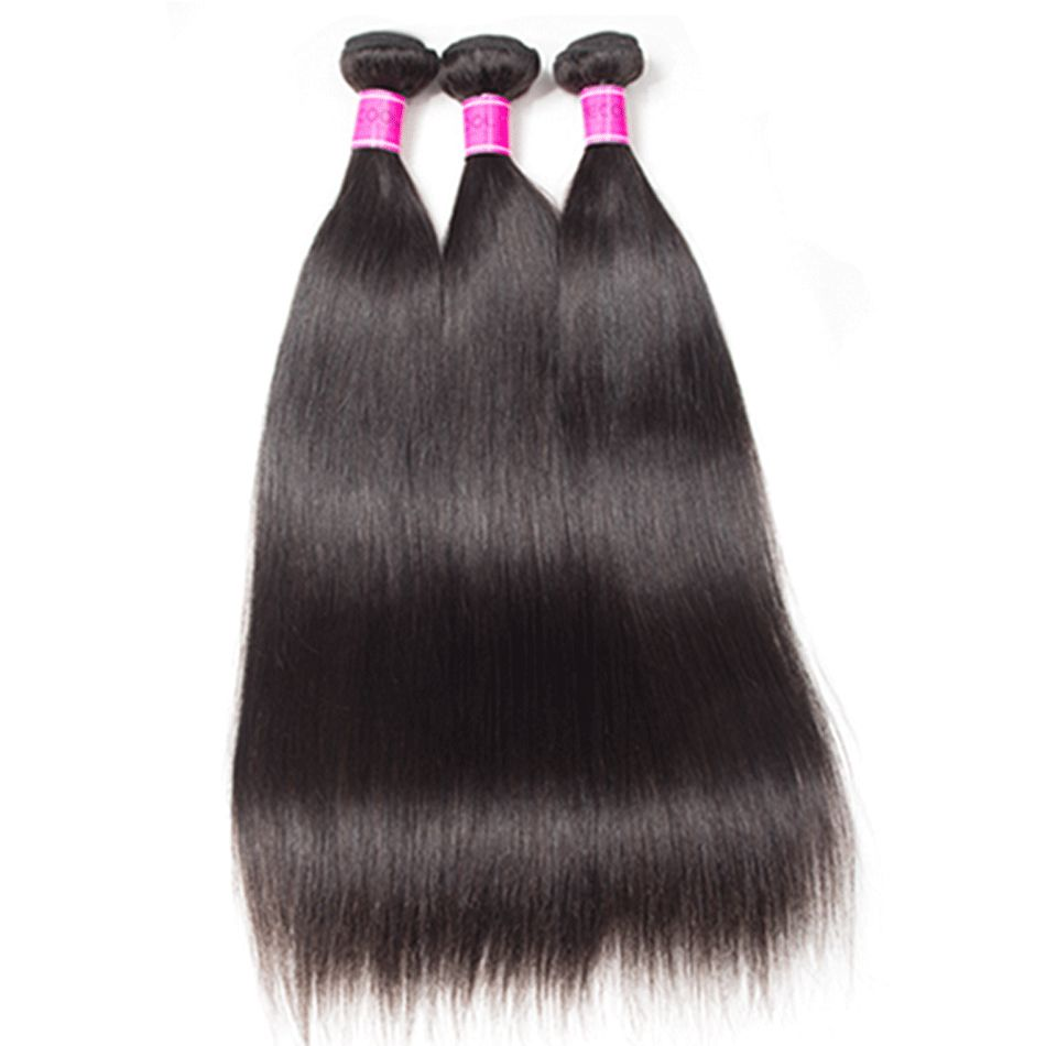 Malaysian Straight Hair 3 Bundles 100% Human Hair Bundles