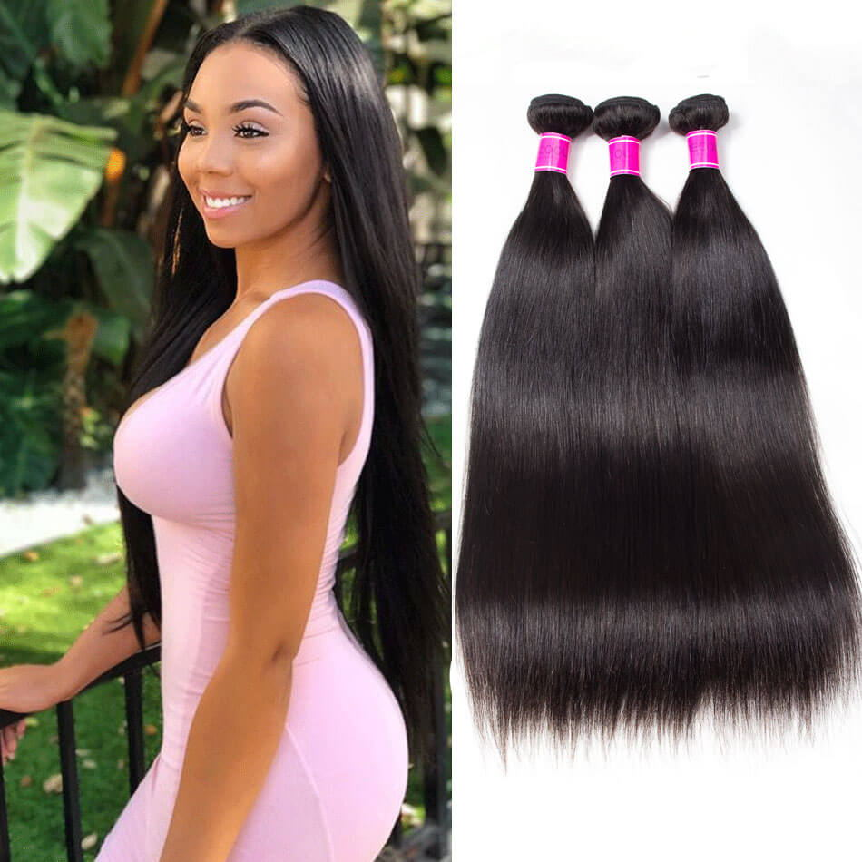 Peruvian Remy Virgin Human Hair Straight hair 3 Bundles