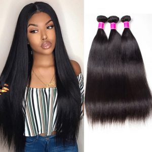 Peruvian Straight Hair Weave 4 Bundles High Quality