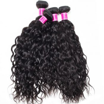 Peruvian Water Wave Virgin Human Hair 4 Bundles