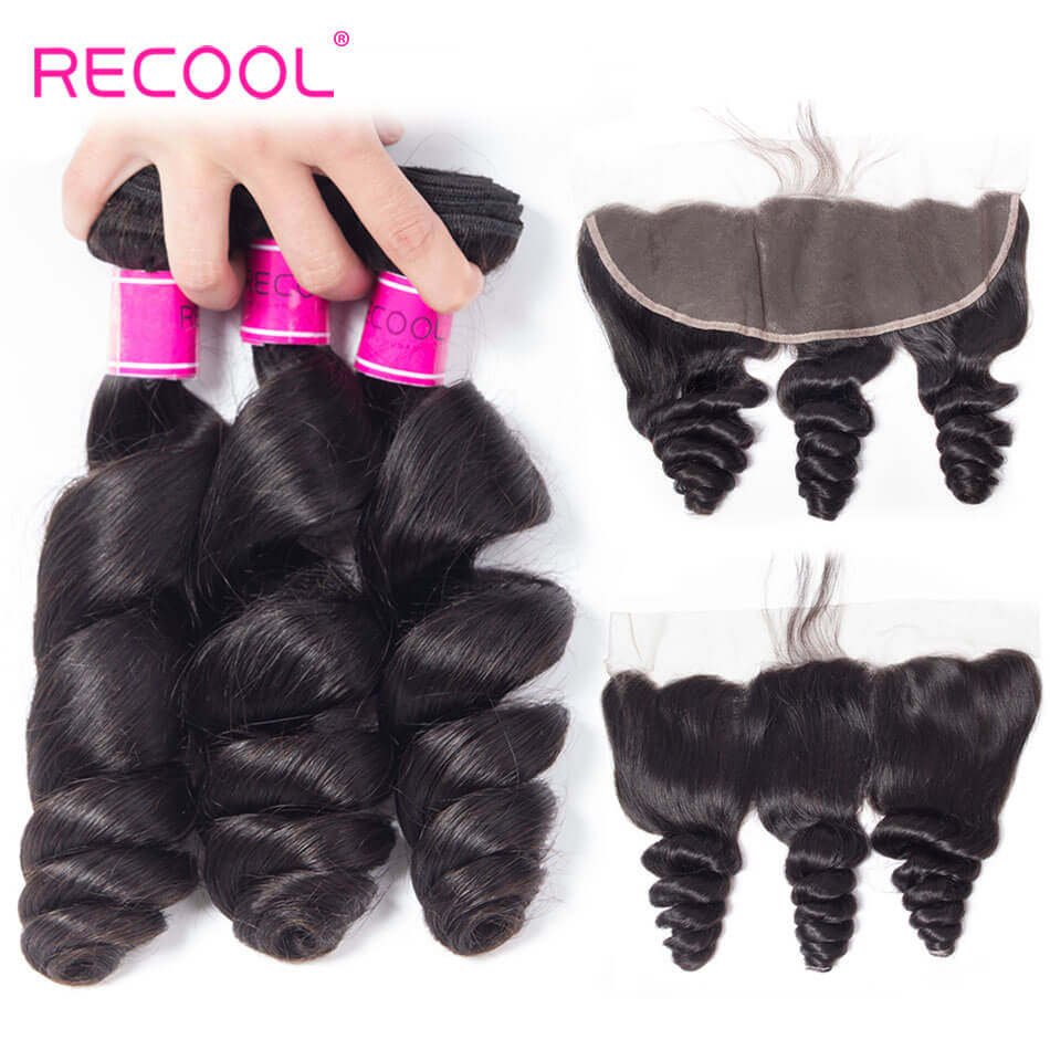 High Quality Loose Wave Virgin Hair Bundles With Ear To Ear Lace Frontal