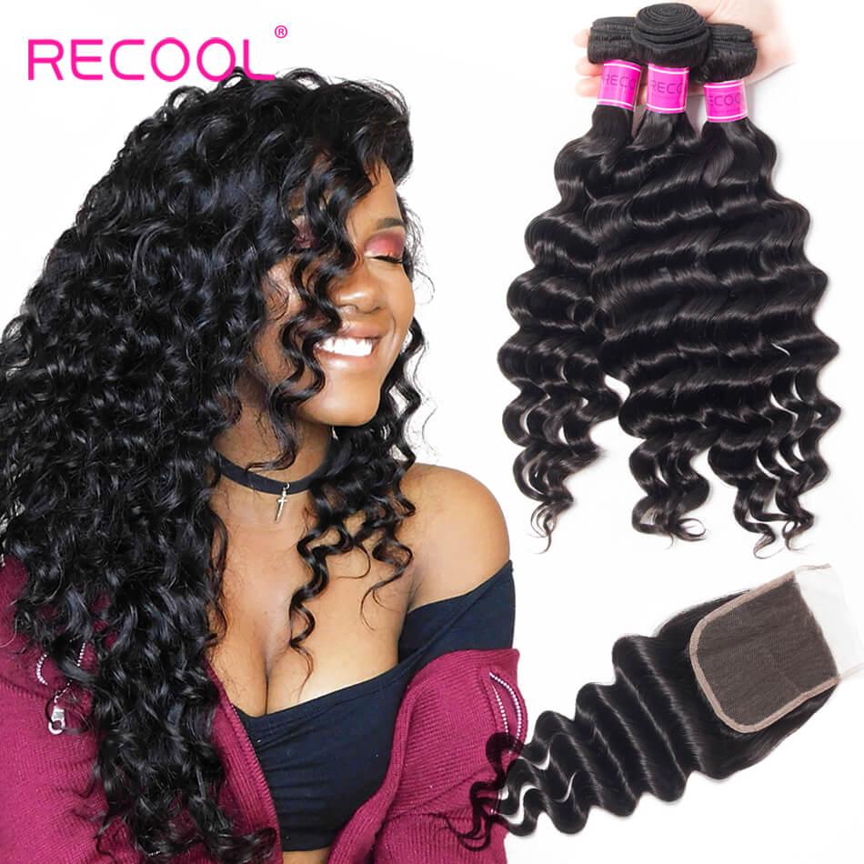 Loose Deep Wave 3 Bundles Human Hair Weave With Closure Top Quality Hair Bundles With Closure
