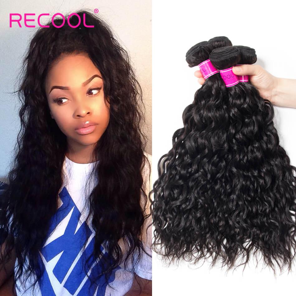 Wet And Wavy Human Hair Weave 4 Bundles Recool Hair Virgin Malaysian Hair Water Wave Bundles