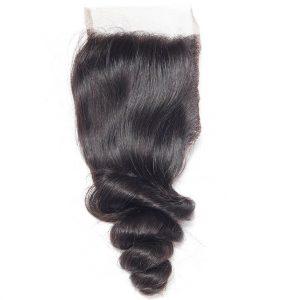 Virgin Hair Loose Wave Human Hair 4x4 Lace Closure 1 PCS