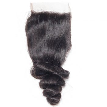 Virgin Hair Loose Wave Human Hair 4x4 Lace Closure 1 PCS