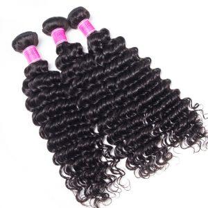 Wholesale Virgin Human Hair Indian Deep Wave 3 Bundles