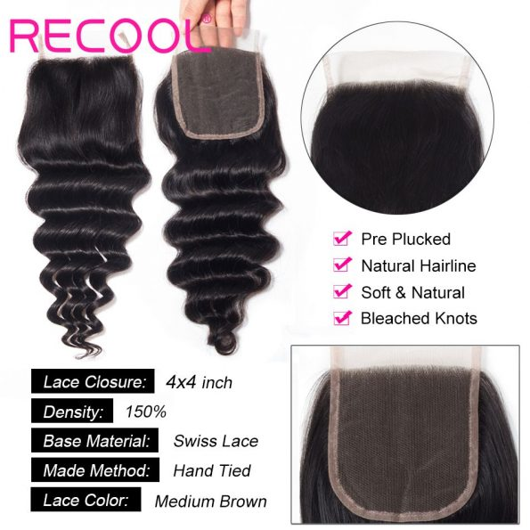 loose deep wave Lace Closure details