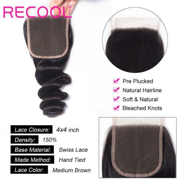 loose wave Lace Closure details
