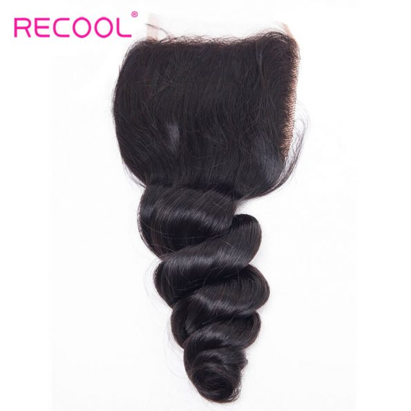 recool hair loose wave closure 5