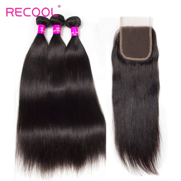 recool hair straight with closure 9