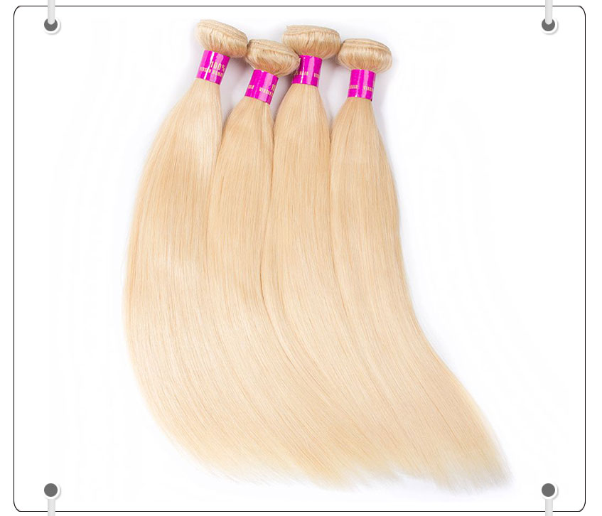 Blonde Color Brazilian Straight Hair 10A Virgin Human Hair 613# Straight 4 Bundles Deals,buy human hair online