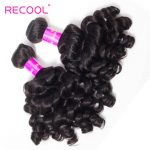 Brazilian Bouncy Curly Hair Bundles 4 PCS Human Hair Weave