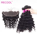 Peruvian Loose Deep Wave Lace Frontal Ear To Ear With Bundles