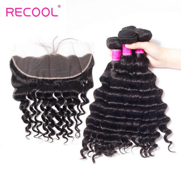 recool hair loose deep 4 bundles with frontal 2