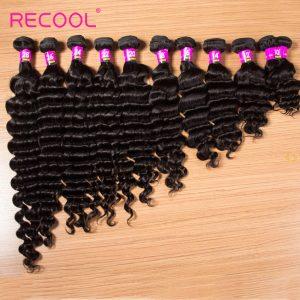 Recool Hair 10 Bundles Wholesale Price Brazilian Virgin Hair Loose Deep Wave High Quality 8A For Human Hair