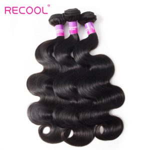 Recool Indian Hair Weave Bundles Body Wave 3 Bundles Virgin Human Hair 8A High Quality