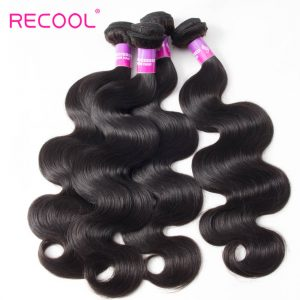 Peruvian Hair Body Wave 4 Bundles Deal Recool Hair 8A Grade Virgin Human Hair Bundles Wavy Hair