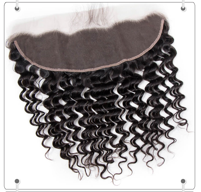 Hot Selling Brazilian Deep Wave 13*4 Lace Frontal Closure