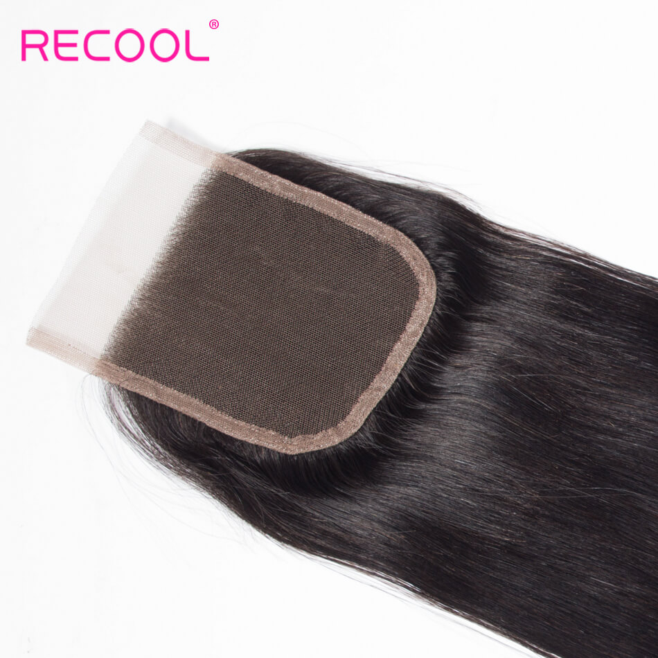 Recool Straight Human Hair 4*4 Lace Closure 1 PCS
