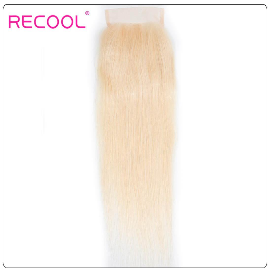 Virgin Human Hair 613 Blonde Straight hair,613 Blonde Straight Lace Closure