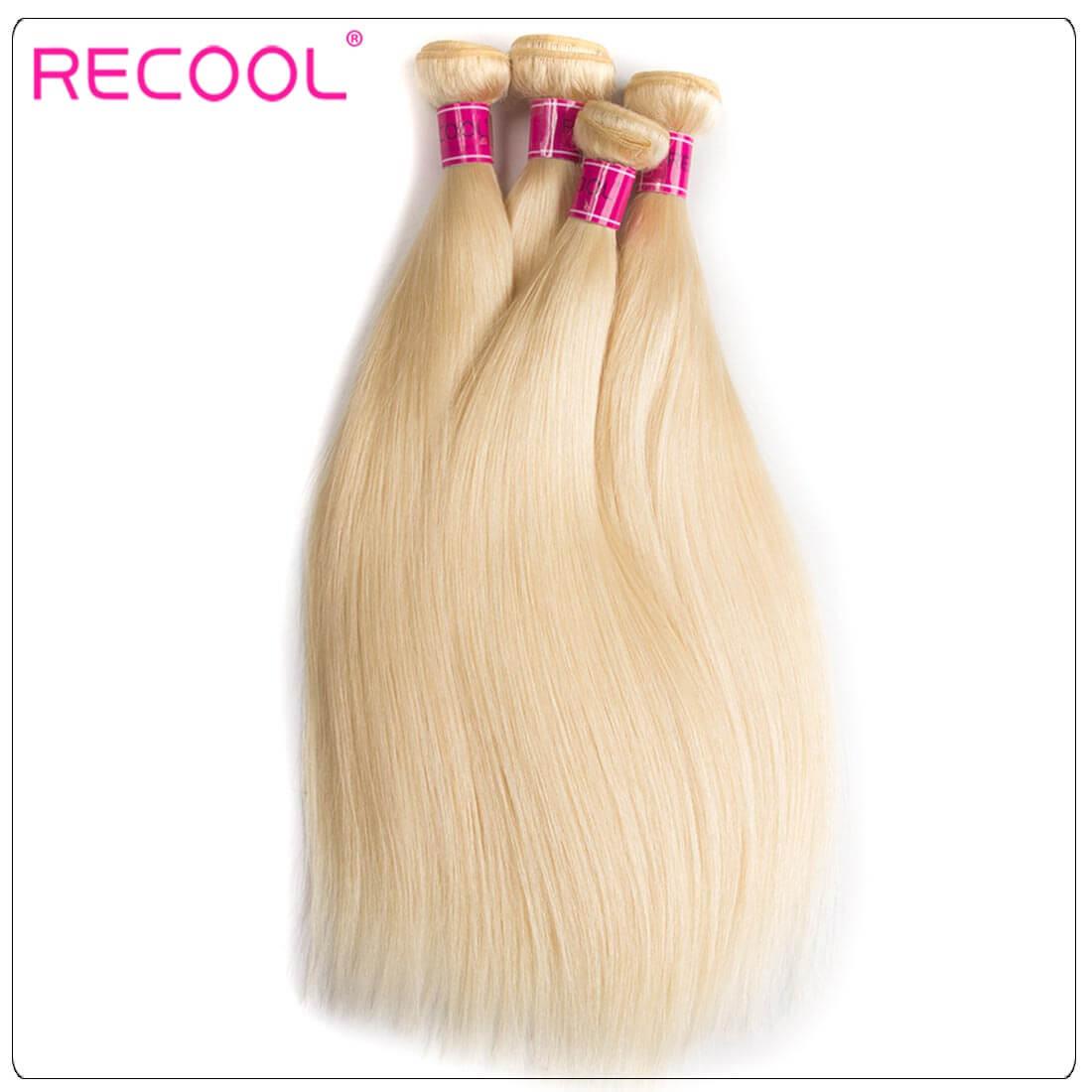613 Blonde Virgin Human Hair Straight Bundles Honey Blonde Straight Hair 8A Human Hair Extensions 1