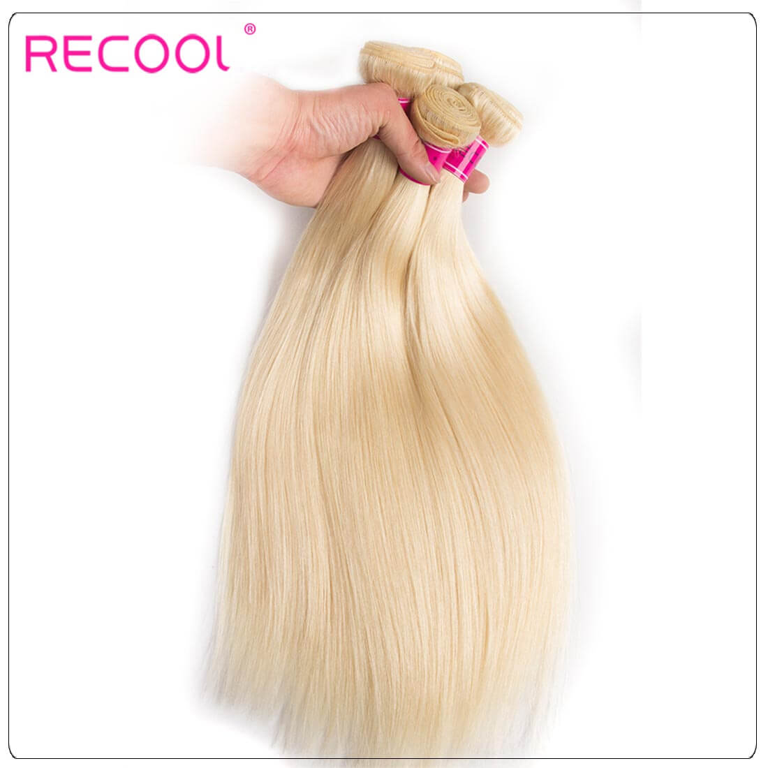 613 Blonde Virgin Human Hair Straight Bundles Honey Blonde Straight Hair 8A Human Hair Extensions 3