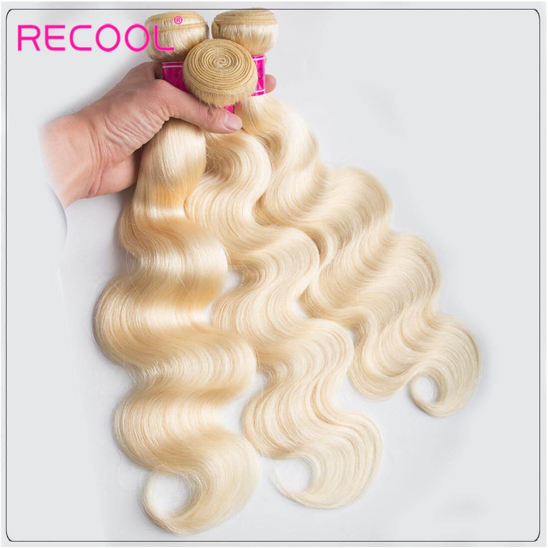 Blonde Hair Bundles 613 Virgin Hair Body Wave, 100% Virgin Blonde Human Hair Weave Body Wave Bundles 1