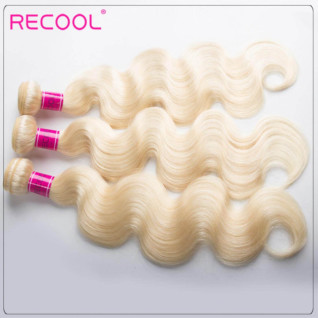 Blonde Hair Bundles 613 Virgin Hair Body Wave, 100% Virgin Blonde Human Hair Weave Body Wave Bundles 2