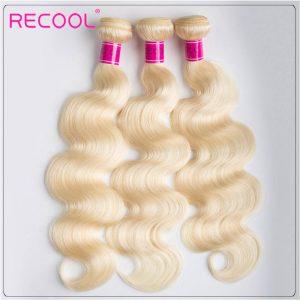 Blonde Hair Bundles 613 Virgin Hair Body Wave, 100% Virgin Blonde Human Hair Weave Body Wave Bundles 3