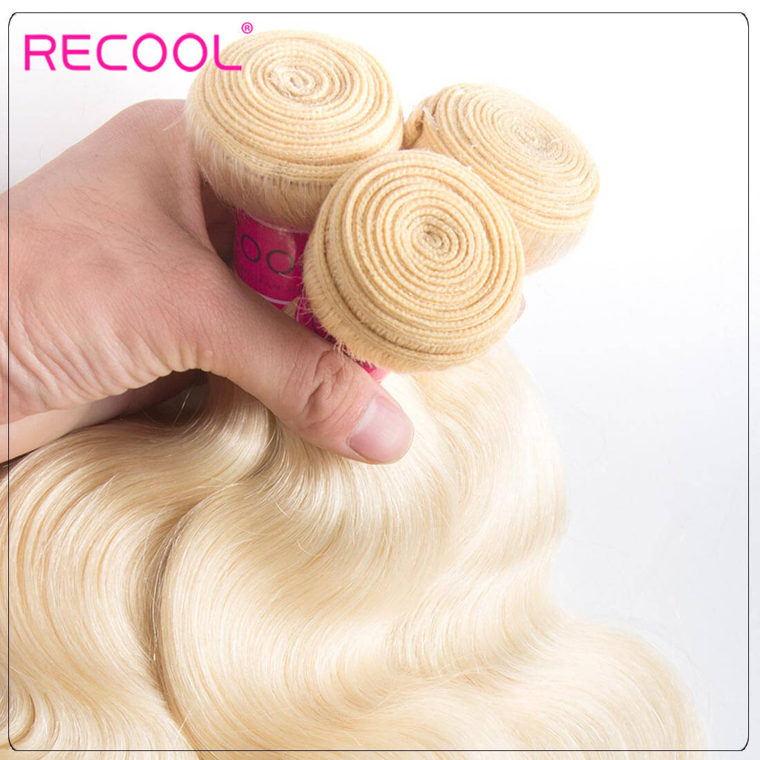 Blonde Hair Bundles 613 Virgin Hair Body Wave, 100% Virgin Blonde Human Hair Weave Body Wave Bundles 4